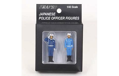 警察官フィギュア 交通機動隊四輪車 男性隊員 (2type set) (1/43 レイズH7-43F3)