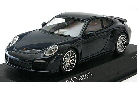 ポルシェ 911 ターボ S 2013 ブルーM (1/43 ミニチャンプス410062220)