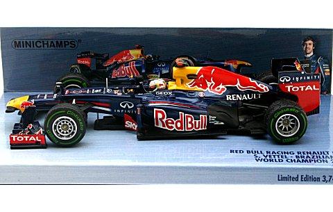 レッドブル レーシング ルノー RB8 S・ベッテル ブラジルGP 2012 ワールドチャンピオン (1/43 ミニチャンプス410120101)