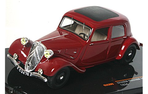 シトロエン トラクシオン 7A 1934 ボルドー (1/43 イクソCLC265)