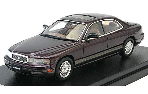 マツダ センティア 30 リミテッド G 1991 ボルドーマイカ (1/43 ハイストーリーHS098RE)