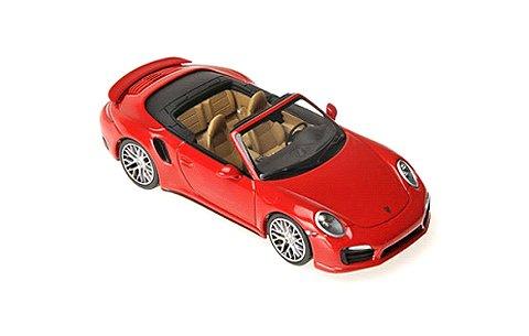 ポルシェ 911 ターボ S カブリオレ 2013 レッド (1/43 ミニチャンプス410062230)