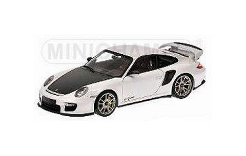 ポルシェ 911 (997II) GT2 RS 2011 ホワイト (1/18 ミニチャンプス100069400)