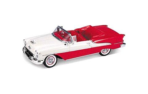 オールズモビル スーパー 88 コンバーチブル 1955 レッド/ホワイト (1/18 ウエリーWE19869CRW)