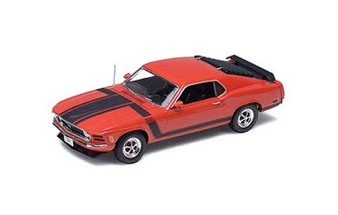 フォード マスタング BOSS 302 1970 レッド (1/18 ウエリーWE18002R)