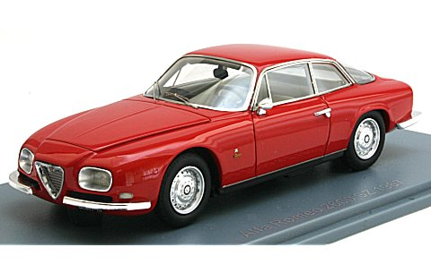 アルファロメオ 2600 スプリント ザガート 1967 レッド (1/43 ネオNEO45600)