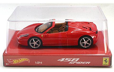 フェラーリ 458 イタリア スパイダー レッド (1/24 マテルMTBLY64)