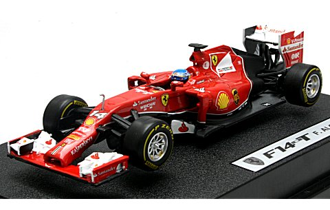 フェラーリ F-1 2014 F14 T No14 アロンソ ドライバー付 (1/43 マテルMTBLY69)