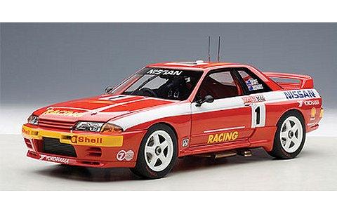 ニッサン スカイライン (R32) GT-R ATCC 1992 バサースト 1000kmレース優勝 No1 レッド J.リチャーズ/M.スカイフェ (1/18 オートアート89279)