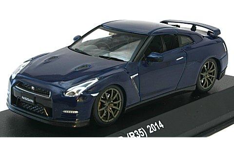 ニッサン GT-R (R35) 2014 オーロラフレアブルーパール (1/43 京商KS03744ABL)