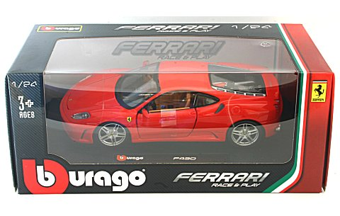 フェラーリ F430 レッド (1/24 ブラーゴ BB200-475)
