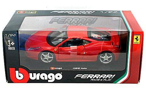 フェラーリ 458 イタリア レッド (1/24 ブラーゴ BB200-471)