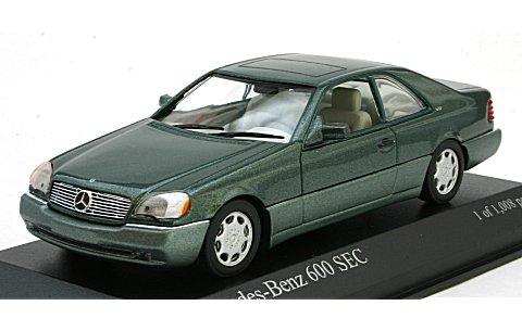 メルセデスベンツ 600 SEC クーペ (C140) 1992 グリーンM (1/43 ミニチャンプス430032604)