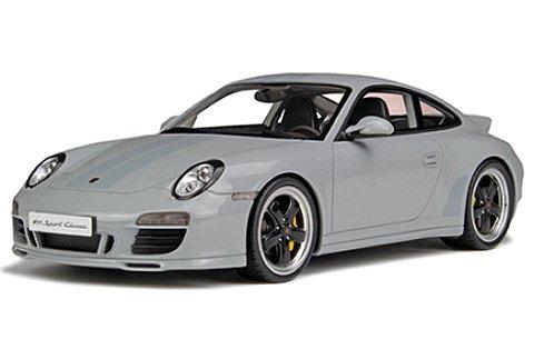 ポルシェ 911(991) スポーツ クラシック ライトグレー (1/18 GTスピリット GTS047)