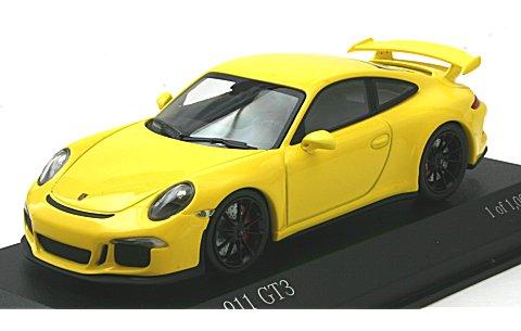 ポルシェ 911 (991) GT3 2012 イエロー (1/43 ミニチャンプス410062021)