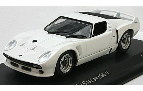 ランボルギーニ ミウラ SVJ ロードスター 1981 (1/43 ホワイトボックスWB509)