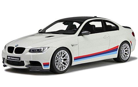 BMW M3 E92(M ストライプ) ホワイト/ストライプ (1/18 GTスピリットGTS707)