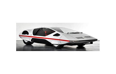 フェラーリ モデューロ 1970 ホワイト (1/43 ラミニミニエラMMEPF003)