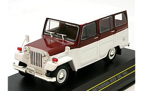 ミツビシ ジープ 1961 ホワイト&ワインレッド (1/43 ファースト43 F43-014)