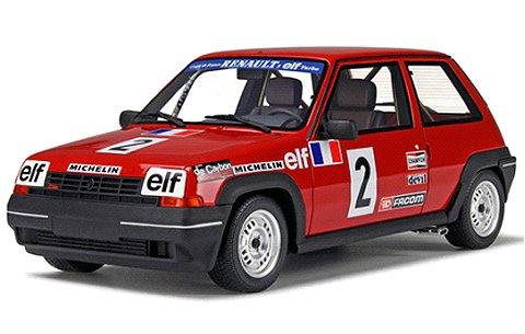 ルノー 5(サンク) GT ターボ クーペ レッド/レーシングデカール (1/18 オットーモビルOTM579)