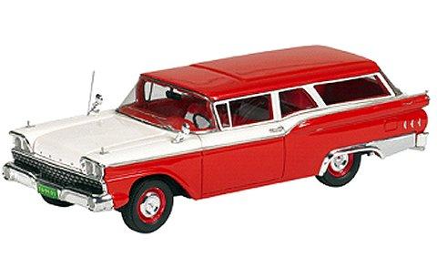 1959 Ford Ranch Wagon レッド/ホワイト (1/43 ジェニュインフォードパーツFPM447)