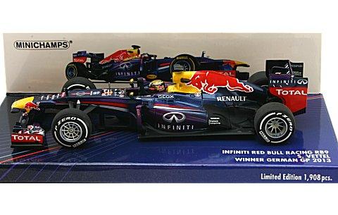 インフィニティ レッドブルレーシング ルノー RB9 S・ベッテル ウイナー ドイツGP 2013 (1/43 ミニチャンプス410130101)