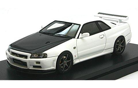 ニッサン スカイライン GT-R V-SpecII(BNR34) カーボンボンネット ホワイト (1/43 マーク43 PM4301CW)