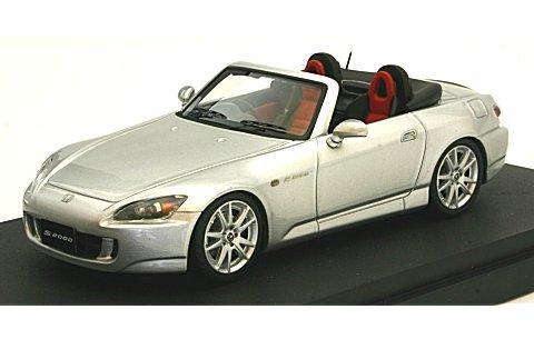 ホンダ S2000 (AP1) 2003 セブリングシルバーM (ブラック/レッドインテリア) (1/43 マーク43 PM4310RS)