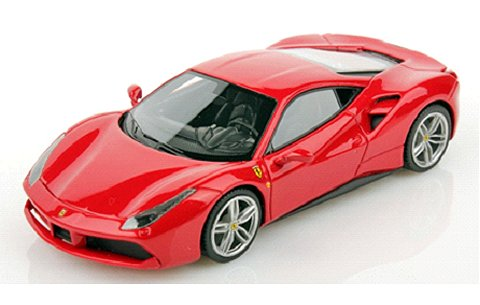 フェラーリ 488GTB ジュネーブモーターショー 2015 レッドM (1/43 ルックスマート LS446A)