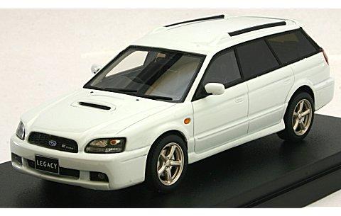 スバル レガシィ ツーリングワゴン GT-B E-tuneII 2001 ピュアホワイト (1/43 ハイストーリーHS126WH)