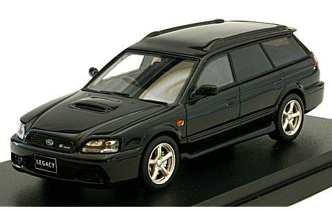 スバル レガシィ ツーリングワゴン GT-B E-tuneII 2001 ブラックトパーズマイカ (1/43 ハイストーリーHS126BK)
