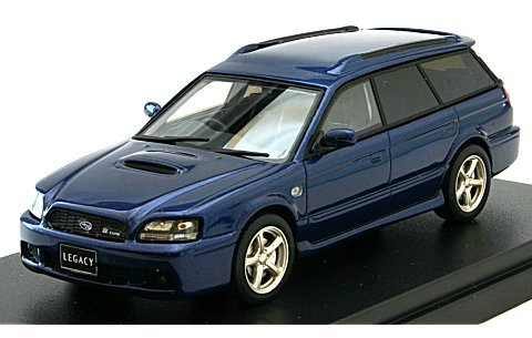スバル レガシィ ツーリングワゴン GT-B E-tuneII 2001 ノーティックブルーマイカ (1/43 ハイストーリーHS126BL)
