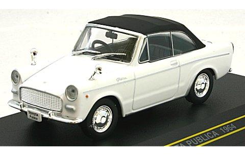 トヨタ パブリカ コンバーチブル 1964 ホワイト (幌付き) (1/43 ファースト43 F43-018)