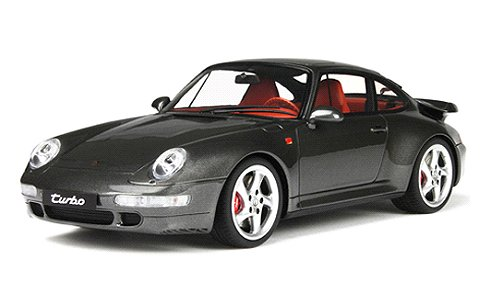 ポルシェ 993 ターボ Mグレー (1/18 GTスピリット GTS051)