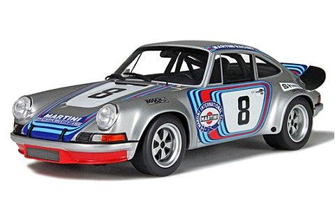 ポルシェ 911 タルガフローリオ シルバー/レーシングデカール (1/18 GTスピリット GTS052)