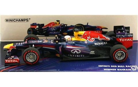 インフィニティ レッドブルレーシング ルノー RB9 S・ベッテル ウイナー バーレーンGP 2013 (1/43 ミニチャンプス410130201)
