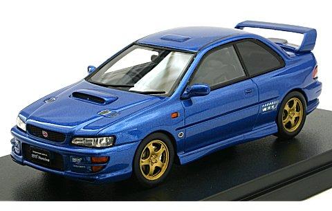 スバル インプレッサ WRX タイプR STi VerswionV Limited 1998 ソニックブルーマイカ (1/43 ハイストーリーHS134BL)