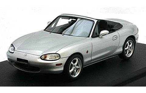 マツダ ロードスター (NB8C) RS 1998 ハイライトシルバーM (1/43 マーク43 PM4325AS)