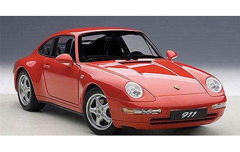 ポルシェ 911 (993) カレラ 1995 レッド (1/18 オートアート78132)