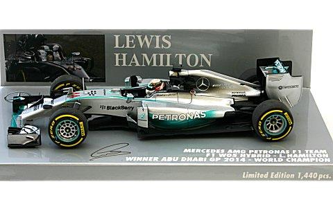 メルセデス AMG ペトロナス F1チーム W05 L・ハミルトン ワールドチャンピオン 2014 (1/43 ミニチャンプス410140444)