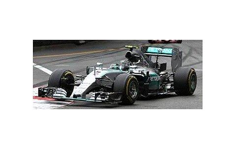 メルセデス AMG ペトロナス F1 チーム W06 ハイブリッド N.ロズベルグ モナコGP 2015 ウイナー (1/43 ミニチャンプス417150106)