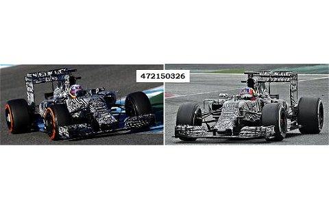 インフィニティ レッドブル レーシング ルノー RB11 プレシーズンテストバージョン 2015 リカルド/クピアド 2台セット (1/43 ミニチャンプス472150326)