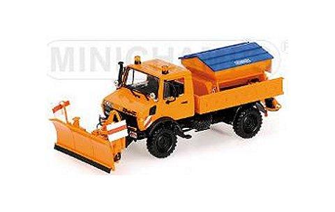 メルセデスベンツ ウニモグ 1300 L 除雪車 オレンジ (1/43 ミニチャンプス439033060)