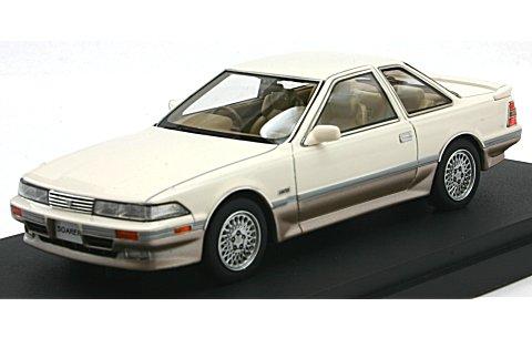 トヨタ ソアラ 3.0GT-リミテッド (E-MZ20) 後期型 クリスタルホワイトトーニングII(1/43 マーク43 PM4315CWS)