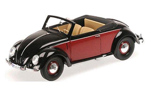 フォルクスワーゲン 1200 カブリオレ 1949 ブラック/レッド (1/18 ミニチャンプス107054132)