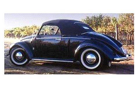 フォルクスワーゲン 1200 カブリオレ HEBMULLER 1949 ブラック (1/18 ミニチャンプス107054232)