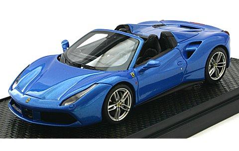 フェラーリ 488 スパイダー 2015 フランクフルトモーターショー Mブルー (1/43 BBR BBRC173)