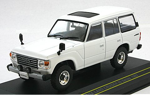 トヨタ ランドクルーザー 60系 1982 ホワイト (1/43 ファースト43 F43-071)