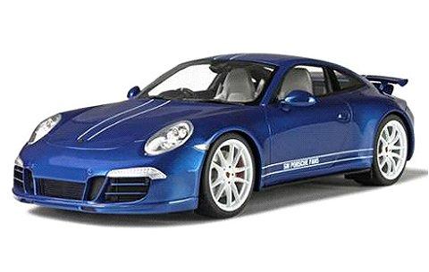 ポルシェ 991 カレラ 4S 5 ミリオンズ ブルー/ホワイト (1/18 GTスピリットGTS032)