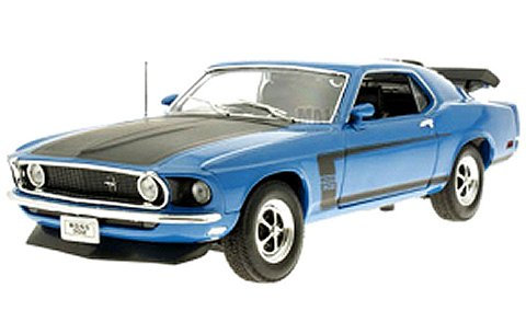 フォード マスタング 1969 ブルー (1/18 ウエリーWE12516BL)